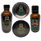 Spartan Kit Contains Beard Oil, Beard Wash, Balm, and Butter. Scent is a sharp, distinct herbal scent of eucalyptus is softened nicely by fresh spearmint with undertones of fresh lemon and sage. Nicely balanced!