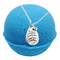 Sugar Cookie Texas Blue Balls Bath Bomb With a Surprise Necklace Inside.