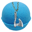 Loki Texas Blue Balls Bath Bomb (Our Version Of The Thor Fragrance) With a Surprise Necklace Inside.