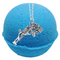 Oatmeal And Honey Texas Blue Balls Bath Bomb With a Surprise Necklace Inside.