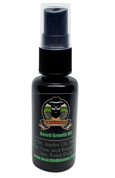 Beard Growth Oil (Natural Organic Growth Oil) is a natural organic formula nurtures your hair follicles and the skin underneath your beard while simultaneously moisturizing and softening your beard. Promote healthy growth while eliminating the itch.