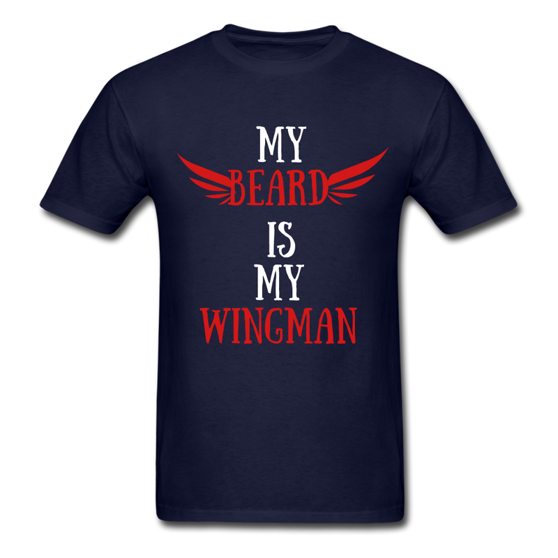 My Beard Is My Wingman T-Shirt - bearded-money