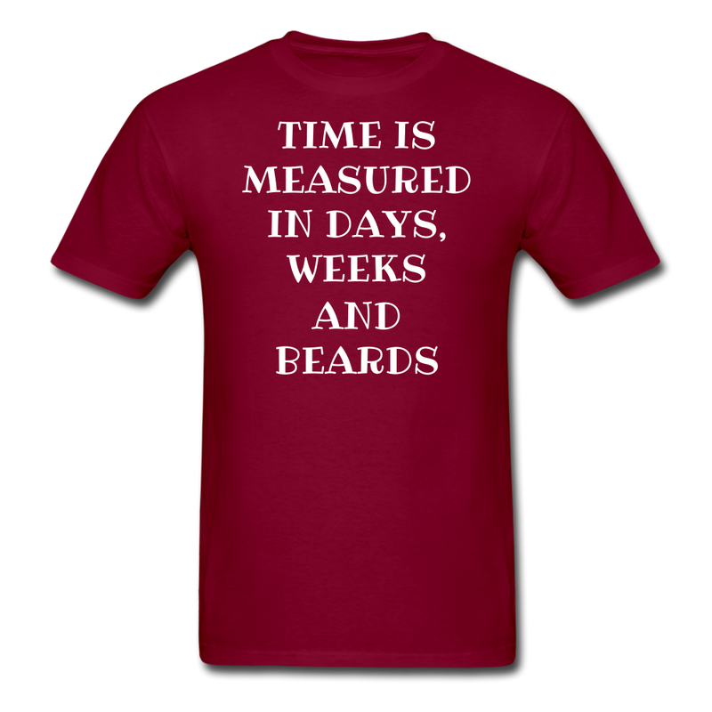 Time Is Measured By Beard Men's T-Shirt - bearded-money