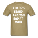 I'm 35% Beard And 75% Bad At Math T-Shirt - bearded-money