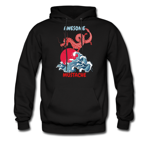 Awesome Mustache  Hoodie - BeardedMoney