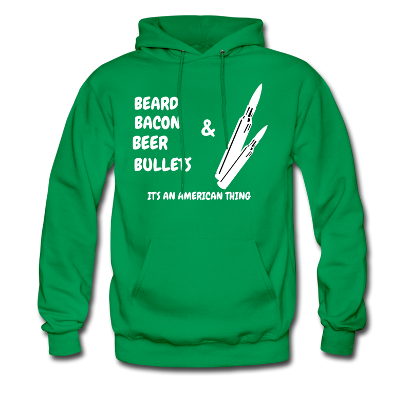 Beard Bacon Beer & Bullets Hoodie - BeardedMoney
