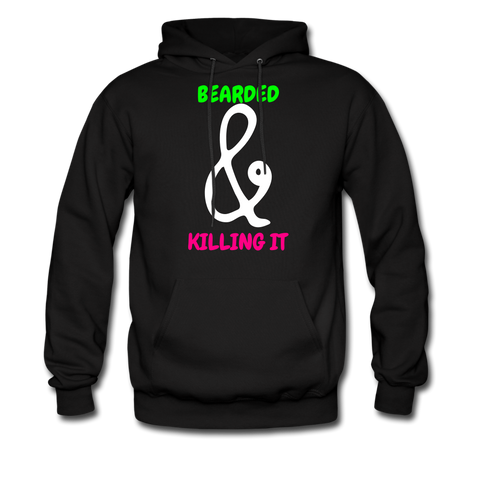 Bearded & Killing It Men's Hoodie - bearded-money