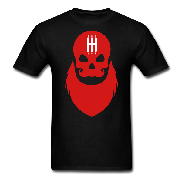 Stick Shift Bearded Skull T-Shirt - BeardedMoney
