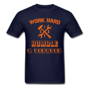 Work Hard Stay Humble & Bearded T-Shirt - bearded-money