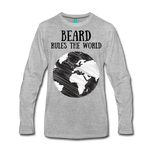 Beard Rules Long Sleeve T-Shirt - bearded-money