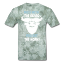 Mess With The Beard. You Get The Horns T-Shirt - BeardedMoney