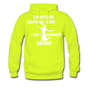 I Don't Give Mustache Rides, I Give Beard Bounces Hoodie - bearded-money