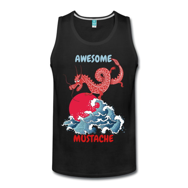 Awesome Mustache  Premium Tank - BeardedMoney