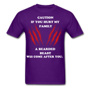 Caution If You Hurt My Family T-Shirt - bearded-money