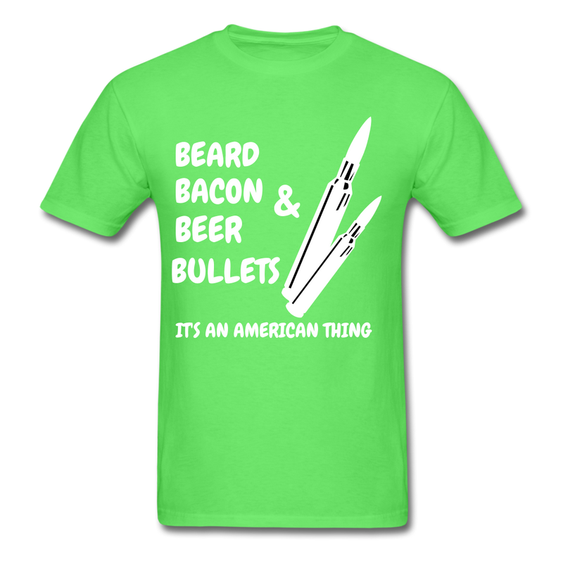 Beard Bacon Beer & Bullets T-Shirt - BeardedMoney