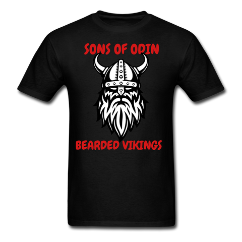Sons Of Odin.. Bearded Vikings T-Shirt - bearded-money