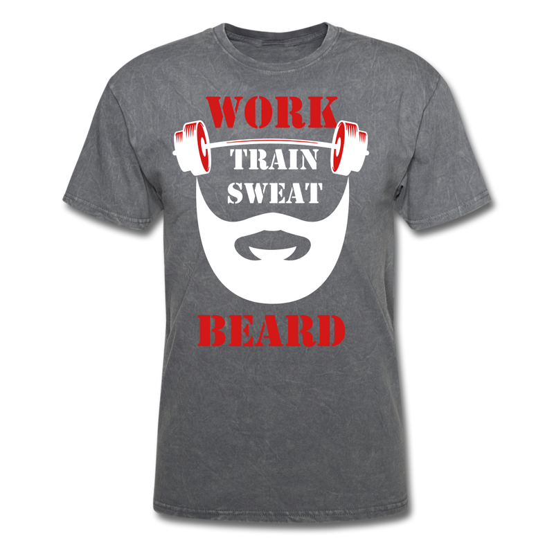 Work, Train, Sweat, Beard T-Shirt - BeardedMoney