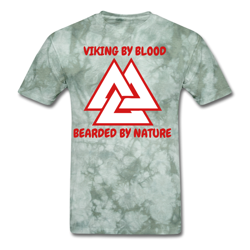 Viking By Blood, Bearded By Nature T-Shirt - bearded-money