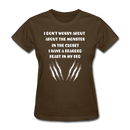 I Don't Worry About The Monster T-Shirt - BeardedMoney