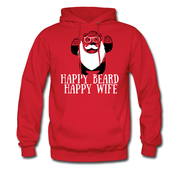 Happy Beard, Happy Wife Hoodie - BeardedMoney
