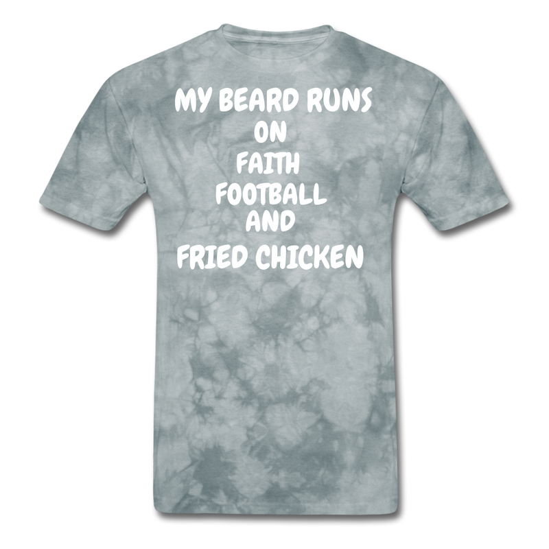 My Beard Runs On Faith Football And Fried Chicken T-Shirt - bearded-money