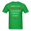 Kissing A Man Without A Beard T-Shirt - bearded-money