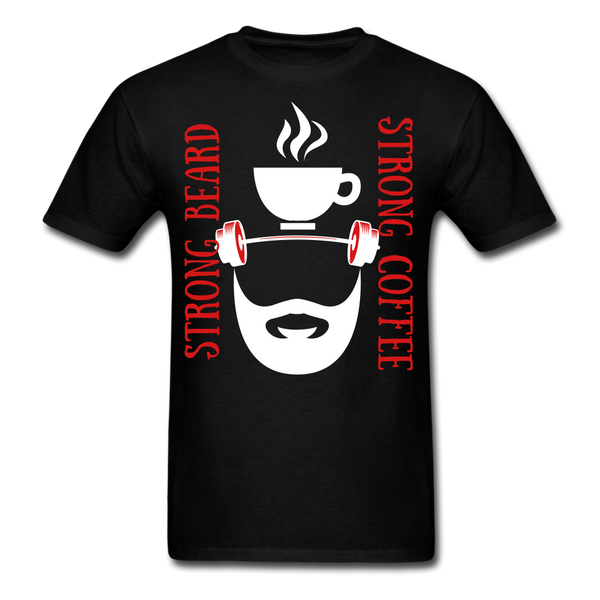 Strong Coffee, Strong Beard T-Shirt - bearded-money