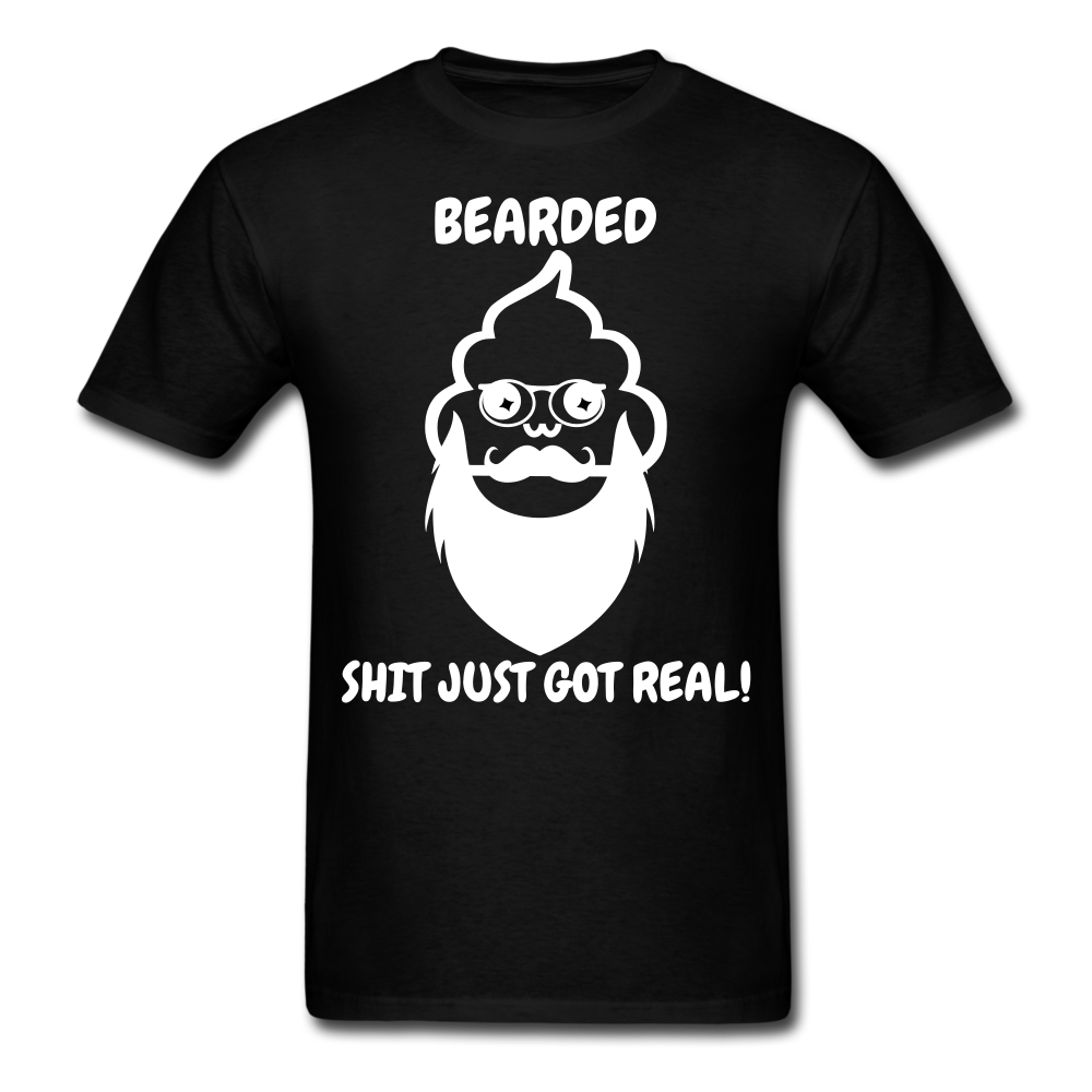 Bearded Poop Just Got Real T-Shirt - bearded-money