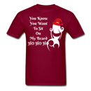 You Know You Want To Sit On My Beard Ho Ho Ho Men's T-Shirt - BeardedMoney