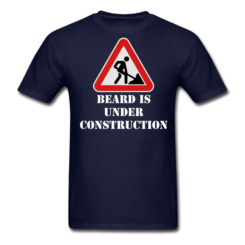 Beard Under Construction Men's T-Shirt - BeardedMoney