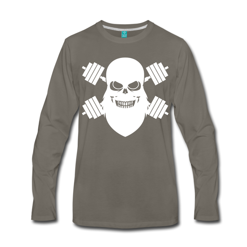 Workout Beard Long Sleeve T-Shirt - BeardedMoney