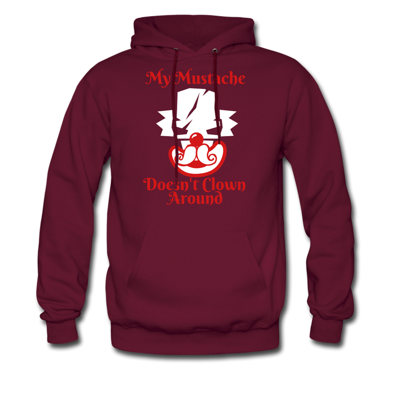 My Mustache Doesn't Clown Around Men's Hoodie - bearded-money