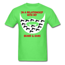 In A Relationship With My Beard & Guns  T-Shirt - BeardedMoney
