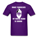 Brace Yourselves My Winter Beard T-Shirt - bearded-money