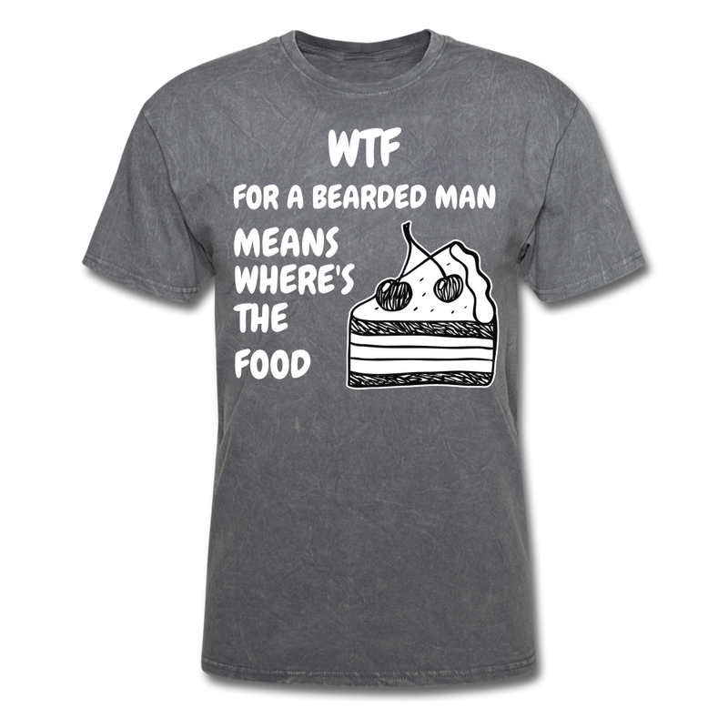 WTF For a Bearded Man Mean's T-Shirt - BeardedMoney