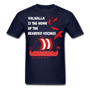 Valhalla Is The Home Of The Bearded Vikings T-Shirt - bearded-money