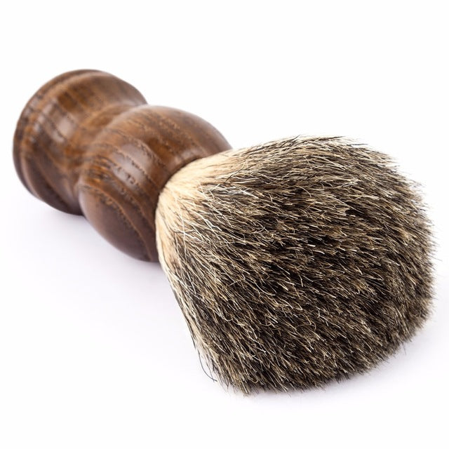 Man Pure Badger Hair Shaving Brush Old Tree - bearded-money
