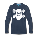 Workout Beard Long Sleeve T-Shirt - bearded-money