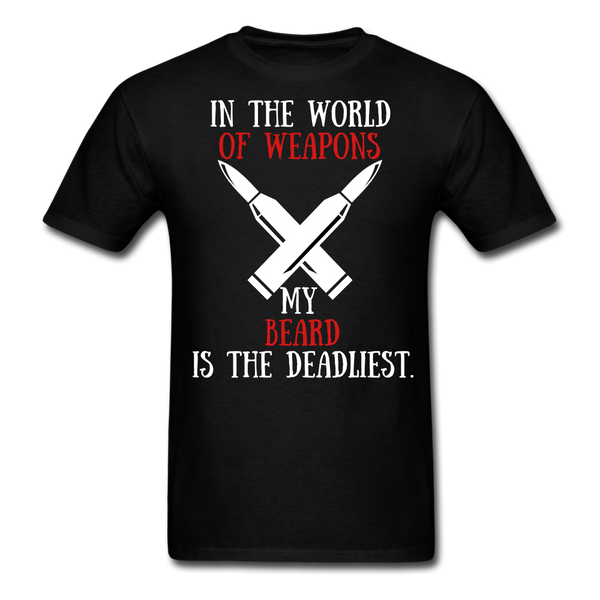 In The World Of Weapons My Beard T-Shirt - BeardedMoney