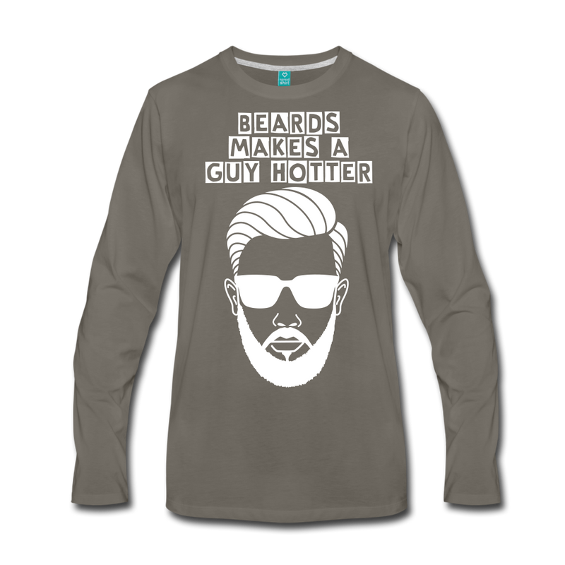 Guy Hotter Premium Long Sleeve T-Shirt - BeardedMoney