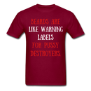 Beards Are Like Wearing Labels..T-Shirt - BeardedMoney