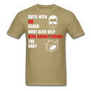 Guys With No Beard Must Also Help With Breastfeeding T-Shirt - bearded-money