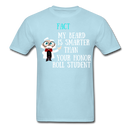 Fact, My Beard Is Smarter Than Your Honor Roll Student T-Shirt - BeardedMoney
