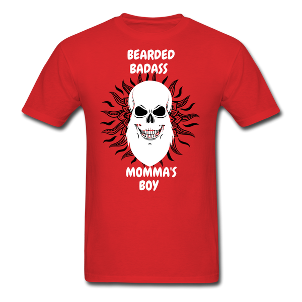 Bearded Bad*ss Momma's Boy T-Shirt - BeardedMoney