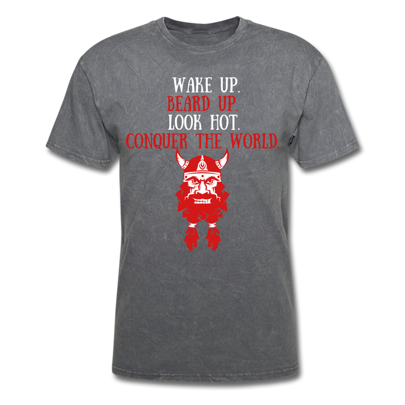 Wake Up, Beard Up T-Shirt - bearded-money