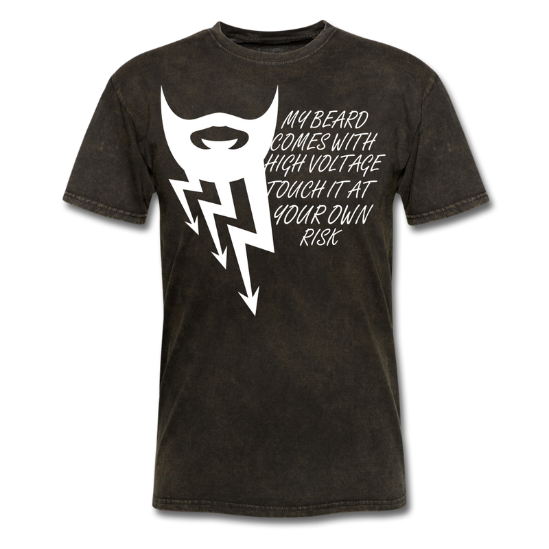 My Beard Comes With High Voltage Touch It At Your Own Risk Men's T-Shirt - BeardedMoney