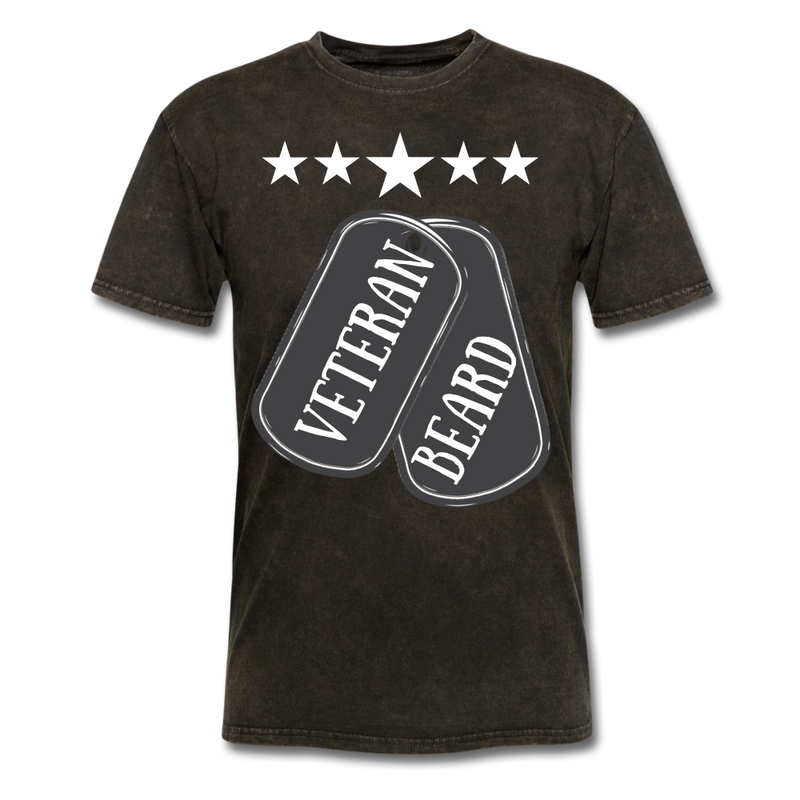 Beard Veteran Tag T-Shirt - BeardedMoney