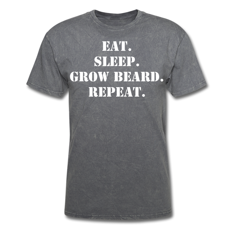 Eat, Sleep, Grow Beard T-Shirt - BeardedMoney