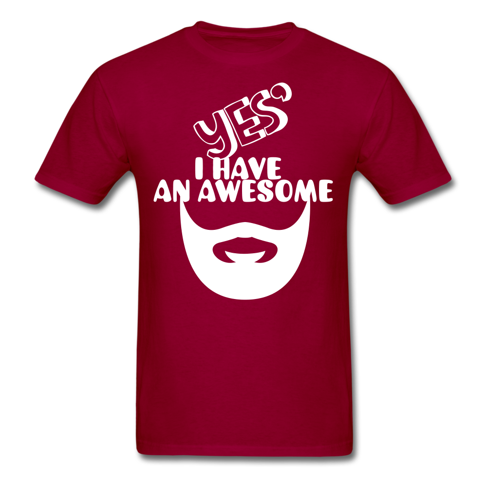 Yes, I Have An Awesome Beard Men's T-Shirt - bearded-money