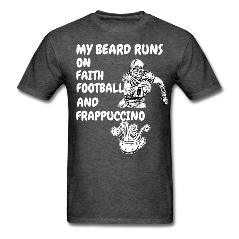 My Beard Runs On Faith, Football T-Shirt - bearded-money